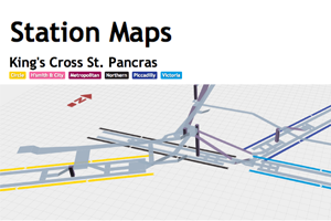 3D Station Maps